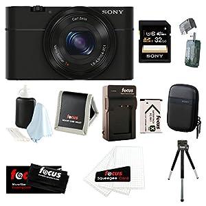 Sony Cyber-shot DSC-RX100 Digital Camera (Black) Bundles (32GB Travel Bundle) by Sony