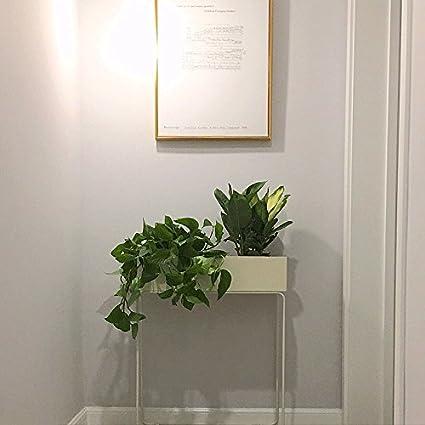 Hierro Forjado Nordico Minimalista Flor Moderna Estante Piso Balcon - Jardinera-interior