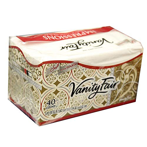 Vanity Fair Dinner Napkins, Pre Folded, 40 CT (4) ()