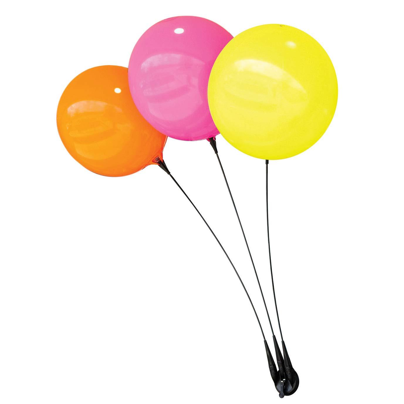 Balloon Bobber - Weatherproof Reusable Seamed Balloon Triple Suction Cup Kit - Helium Free Plastic Outdoor Balloons