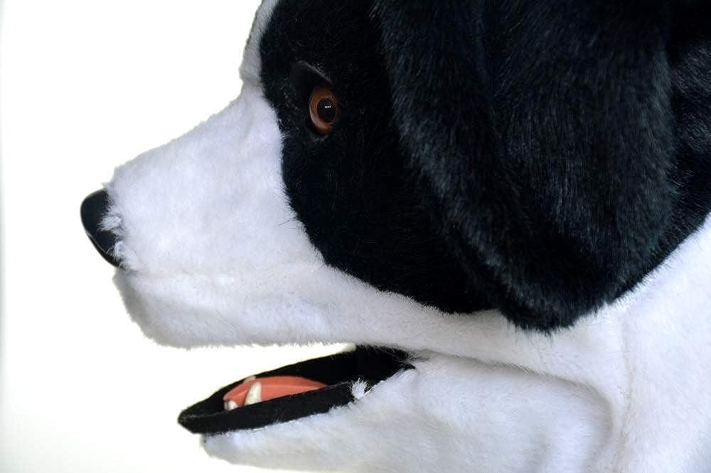 diseños exclusivos RONGLINGXING-MásCocheas de cabeza de perro, perro, perro, disfraces fiesta de cumpleaños de Cochenaval de Halloween disfraz realista hecho a mano personalizado CosJugar animal en movimiento boca con piel decorado  exclusivo