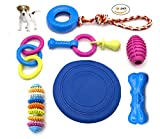Petony Dog Toys,Non-Toxic Plastic and Rubber Dog Toys for Small and Medium Dogs (7 Pack)