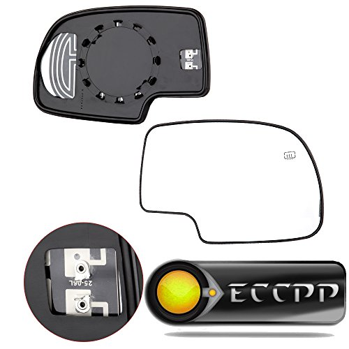 ECCPP Mirror Glass Power Heated Driver & Passenger Side(A Pair) Replacement fit for Chevy Avalanche Suburban Silverado Tahoe GMC Sierra Hybrid Classic Yukon