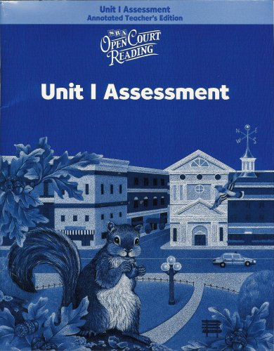 SRA Open Court Reading, Level 3: Unit 1 Assessment, Annotated Teacher's Edition ISBN#0075714280 pdf epub