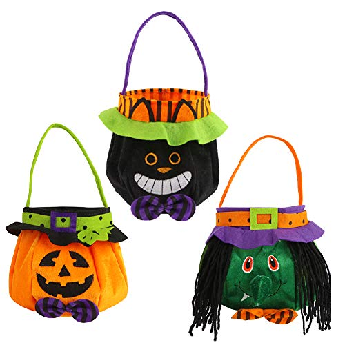 Small 3 pack trick or treat tote decoration