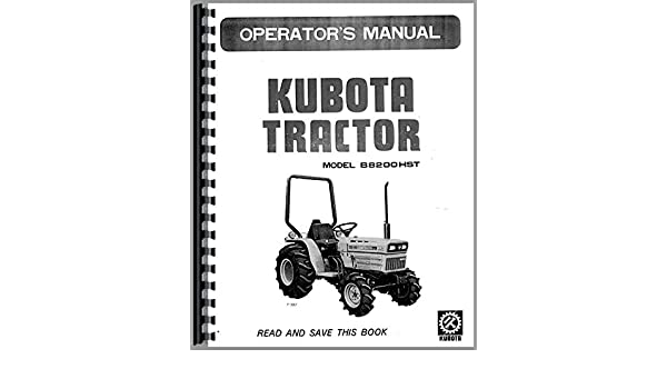 Kubota B8200HST-D Tractor Operators Manual: Kubota Manuals