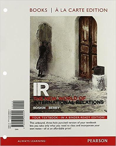 Amazon com: IR: The New International Relations Books a la Carte