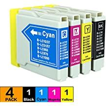 Ink Cartridge,Trovole Remanufactured Brother LC51 Replacement Inkjet Compatible with DCP-130c,DCP-330c, DCP-350C,Intellifax 1360,Intellifax 1860C,Intellifax 1960c, Intellifax 2480C,Intellifax 2580c