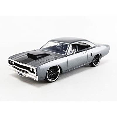 Jada 1970 Plymouth Road Runner Grey Doms Fast & Furious 1/24 Scale Diecast 30745: Toys & Games
