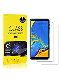 Galaxy A7 2018 Screen Protector, Bear Village® Tempered Glass Screen Protector [Lifetime Warranty], 9H Hardness Screen Protector Film for Samsung Galaxy A7 2018-2 PACK