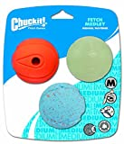 Chuckit! Medium Fetch Medley Balls 2.5-Inch, 3-Pac...