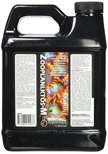 (Brightwell Aquatics ZooPlanktos-M, 500 - 1K micron zooplankton suspension for fishes, stony corals, clams, and other filter-feeders, 2 Liter)
