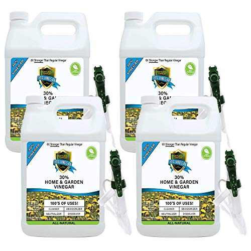 30% Vinegar Pure Natural & Safe Industrial Strength Concentrate in Bulk for Home & Garden 6X More Powerful Than Regular Vinegar (Case of 4 Gallons) from Natural Armor