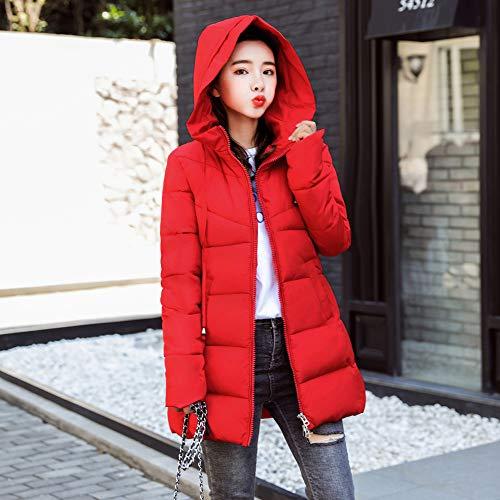 Capucha Mujer Rojo con Abrigo Caliente Invierno Ultra Elegante IfyY67bgv