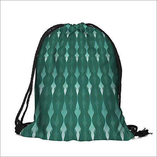 Storage Bag Vertical Curvy Lines Ornament ncy Tablecloth Style Machine Washable Sturdy Rip-Stop Material 6.5