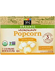 365 Everyday Value, Organic Microwave Popcorn, Butter Flavor, 3.5 oz, 3 pk