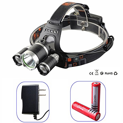 JIAEN Headlamp Waterproof Rechargeable Batteries