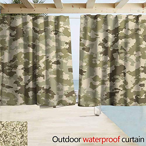 Blind Window Camo - Zmcongz Camo Window Blind Old Fashioned Camouflage Pattern Classical Jungle Survival Theme Curtains for Living Room W63 xL45 Army Green Pale Green Cream