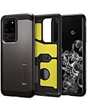 SPIGEN [Tough Armor] Galaxy S20 ULTRA Case Cover with Military-Grade Protection and Integrated Kickstand Designed for Samsung S20 ULTRA (2020) - Gunmetal