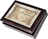 Cottage Garden Daughter Burlwood Italian Style Musical Jewelry Box Plays Light Up My Life