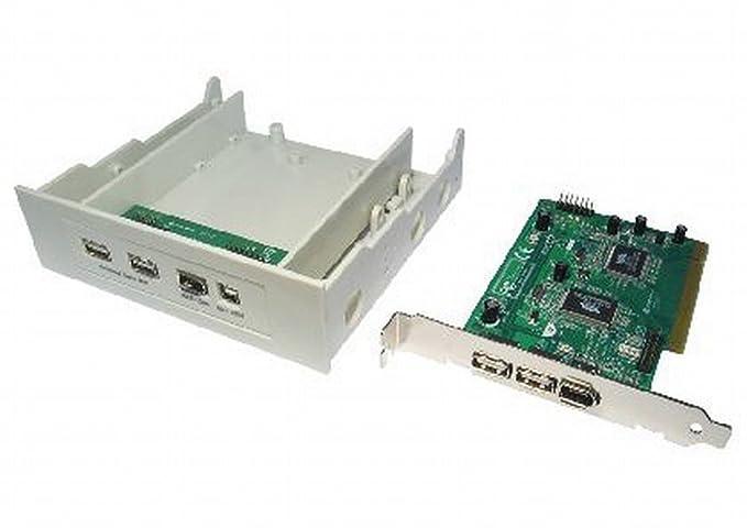 Amazon.com: USB 2.0 & FireWire IEEE1394 Combo PCI Card ...