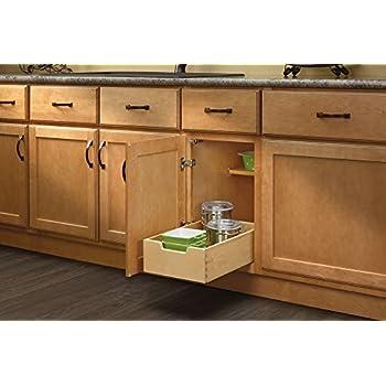 Rev A Shelf   4WDB 12   Small Wood Base Cabinet Pull