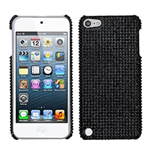 Snap on Cover Fits Apple iPod Touch 5 (5th Generation) Black Full Diamond/Rhinestone Back (Please carefully check your device model to order the correct version.)