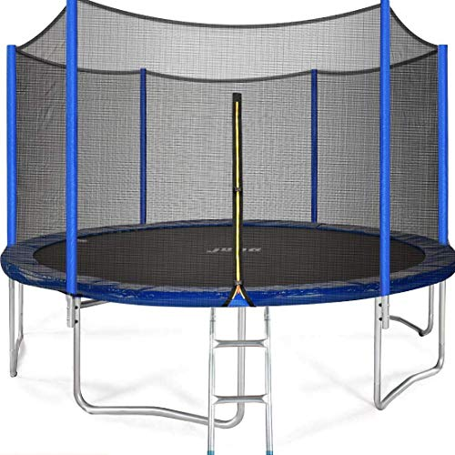 JUPA Kids Trampoline 15FT, TÜV Certificated Outdoor Trampoline with Enclosure Net Jumping Mat Safety Pad, Heavy Duty Round Trampoline for Backyard by JUPA (Image #9)