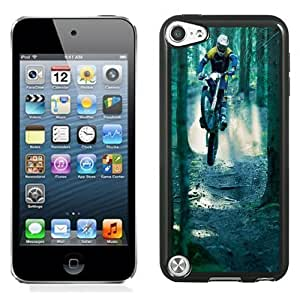 NEW Unique Custom Designed iPod Touch 5 Phone Case With Motocross Jump Forest_Black Phone Case Kimberly Kurzendoerfer