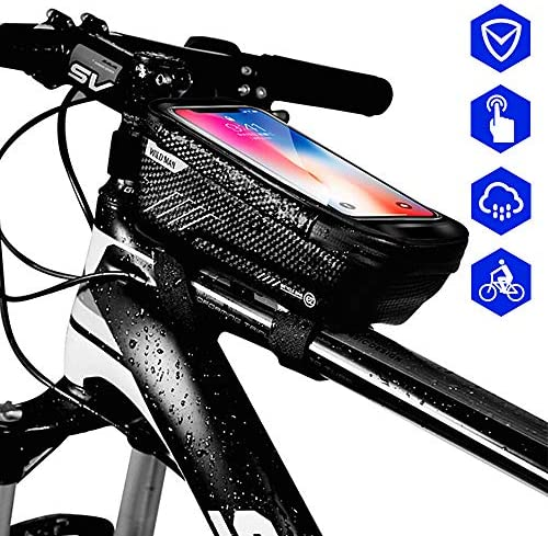 YARD フレームバッグ 自転車 防水 スマホ フロントバッグ 大容量 高耐久性 高感度タッチスクリーン 超便利 6.5インチまでスマホ対応 自転車用バッグ 自転車アクセサリー