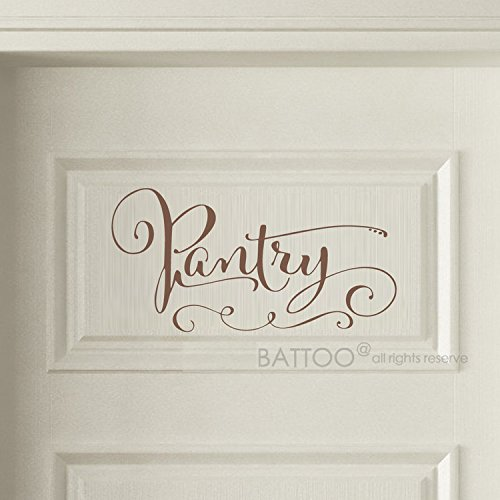 BATTOO Pantry Decal - Pantry Door Decal - Pantry Wall Decal - Kitchen Decor - Pantry Sign - Kitchen Pantry - Kitchen Dcor(brown, 5