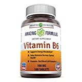 Best Vitamin B6s - Amazing Nutrition Vitamin B6 100 Mg 100 Tablets Review