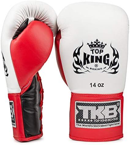 Top King Pro - Guantes de Boxeo con Cordones, Color Negro, Blanco y Rojo: Amazon.es: Deportes y aire libre