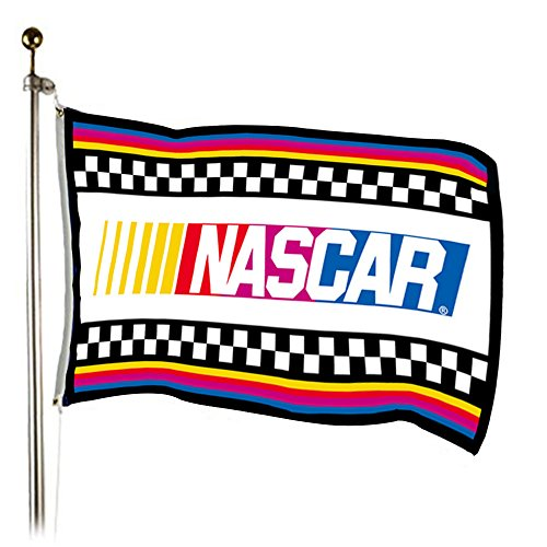 (TOPmountain 3x5ft NASCAR Banner Racing Car Flag Colorfull Polyester 90150cm Hanging Wall Art Car Decor House Decor)