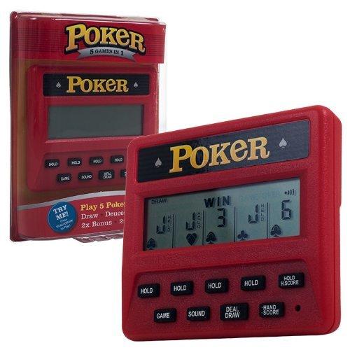 Trademark Global Electronic Handheld 5 in 1 Poker Game (Renewed)