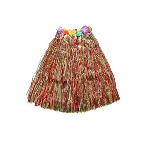[Kid's Plastic Luau Hula Skirts Floral Waistbands Party Skirts Artificial Grass (Mulitcolor)] (Tahitian Dancers Costumes)
