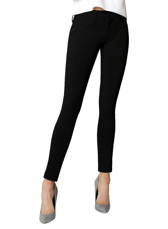 James Jeans Women's Twiggy Ankle Length Black Ponte Knit Legging
