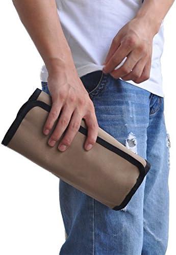 Zafina ツールバッグ 工具箱 工具袋 コンパクトに収まるロールアップケース 収納ポケット数10ヵ所 (36*25cm)