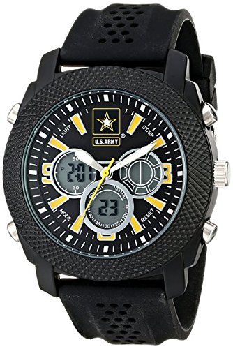 Wrist Armor Men's 37200003 U.S. Army C21 Analog-Digital Display Japanese Quartz Black Watch
