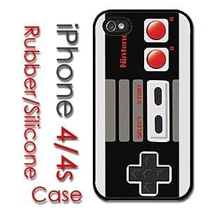 iPhone 4 4S Rubber Silicone Case - Retro Nintendo Controller NES super hjbrhga1544