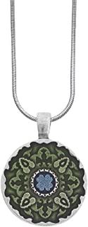 product image for Danforth - Medallion/Green Snake Chain Necklace - 18 Inch - Handcrafted - Pewter Pendant - Made in USA