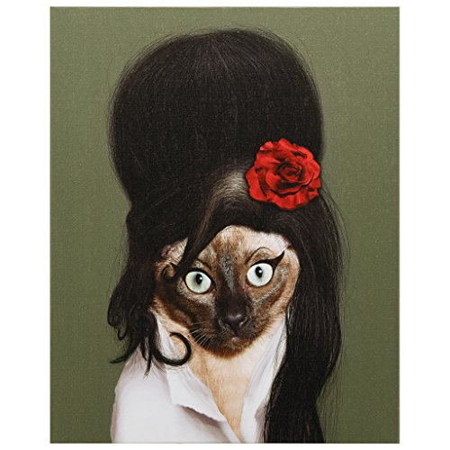 Empire Art Direct Pets Rock Tattoo Graphic Wrapped Cat Canvas Wall Art, 20