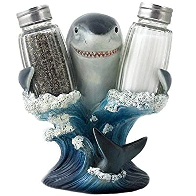Great White Shark Salt and Pepper Shaker Set