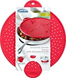 Trudeau 11-Inch Silicone Splatter Screen, Red