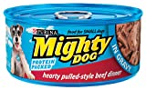 Mighty Dog Pulled-Style Beef Dinner in Gravy, 5.5-Ounce Cans (Pack of 24), My Pet Supplies
