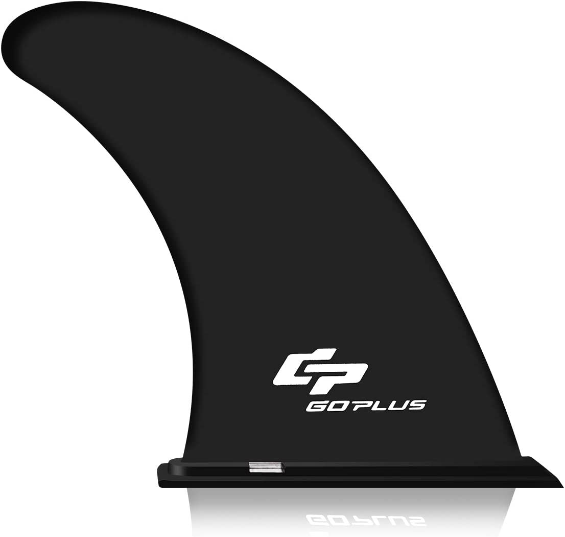 "Goplus 9"" Surf & SUP Single Fin Detachable Center Fin for Longboard, Surfboard and Paddleboard Replacement Quick Fin"
