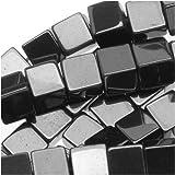 Beadaholique Hematite 3.5-4mm Square Cube Beads Metallic Gray/16 Inch Strand, 3.5 to 4mm