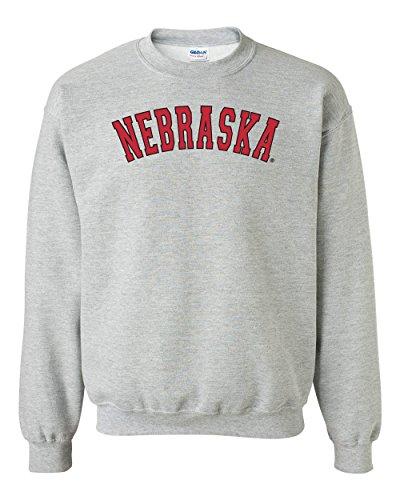 CornBorn Nebraska Arch Crewneck Sweatshirt - Gray - Medium