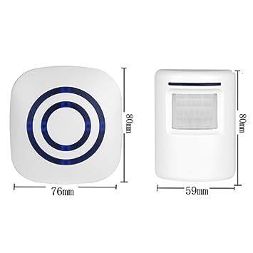 BonTime Timbre inalámbrico Sensor de Movimiento Inducción Impermeable Alarma Timbre Bienvenido Tienda Banco Timbre