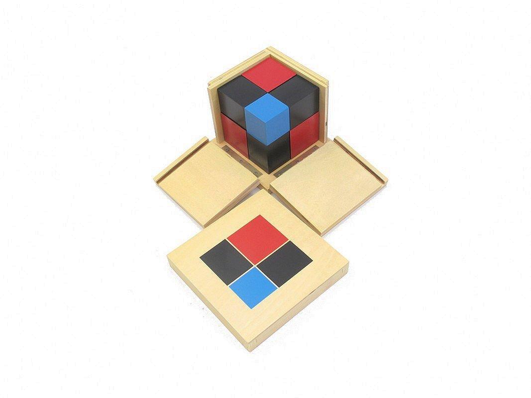 NEW Montessori Binomial Cube by PinkMontessori by rosadomontessori